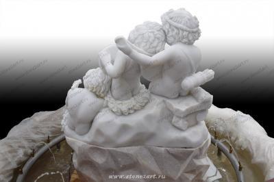 "Фонтан интерьерный из мрамора ""Ангелочки"""