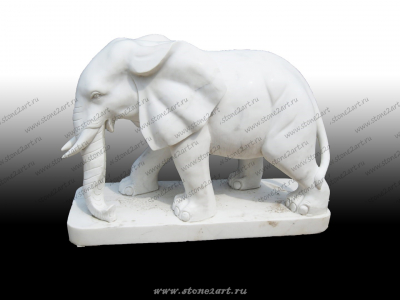 "Скульптура из мрамора ""Слон пара 2"""