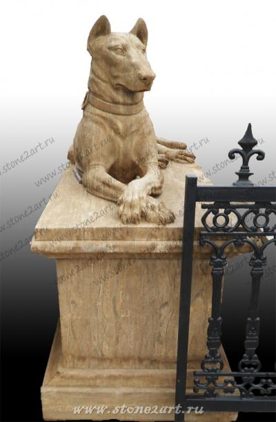 "Скульптура из мрамора ""Пес"""