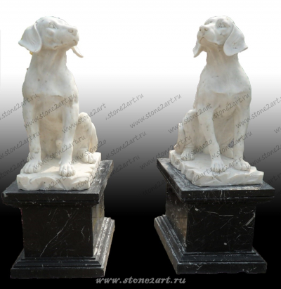"Скульптура из мрамора ""Собака"""