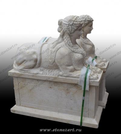 "Скульптура из мрамора ""Сфинкс"""
