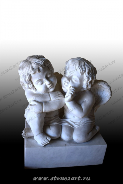 "Комплект скульптур ""Пара ангелочков"""