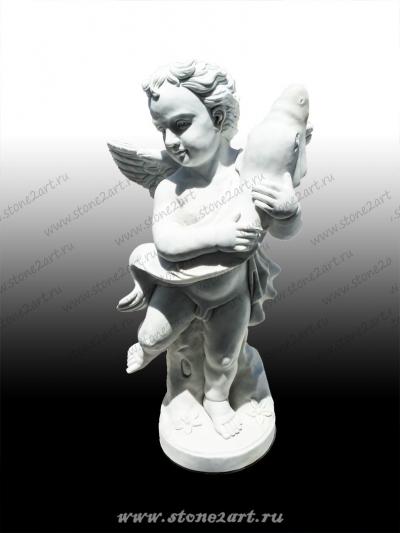"""Скульптура """"Ангелочек с рыбой"""""""
