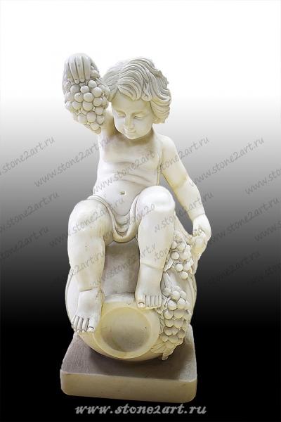 """Скульптура """"Малыш на бочке 2"""""""