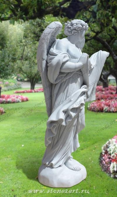 """Скульптура """"Ангел с полотном"""""""