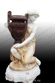 """Вазон из мрамора """"Девушка с вазой"""""""
