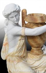 """Вазон из мрамора """"Девушка с вазой 2"""""""