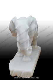 "Скульптура из мрамора ""Слон пара"""