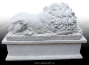 "Скульптура из мрамора ""Лев 2"""