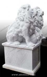 "Скульптура из мрамора ""Лев 3"""