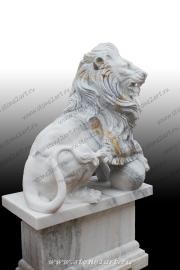 "Скульптура из мрамора ""Лев 9"""