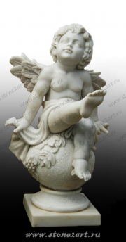 """Комплект скульптур """"Ангелочки на шаре"""""""
