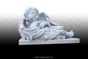 """Скульптура """"Ангелочек спящий с кроликом"""""""