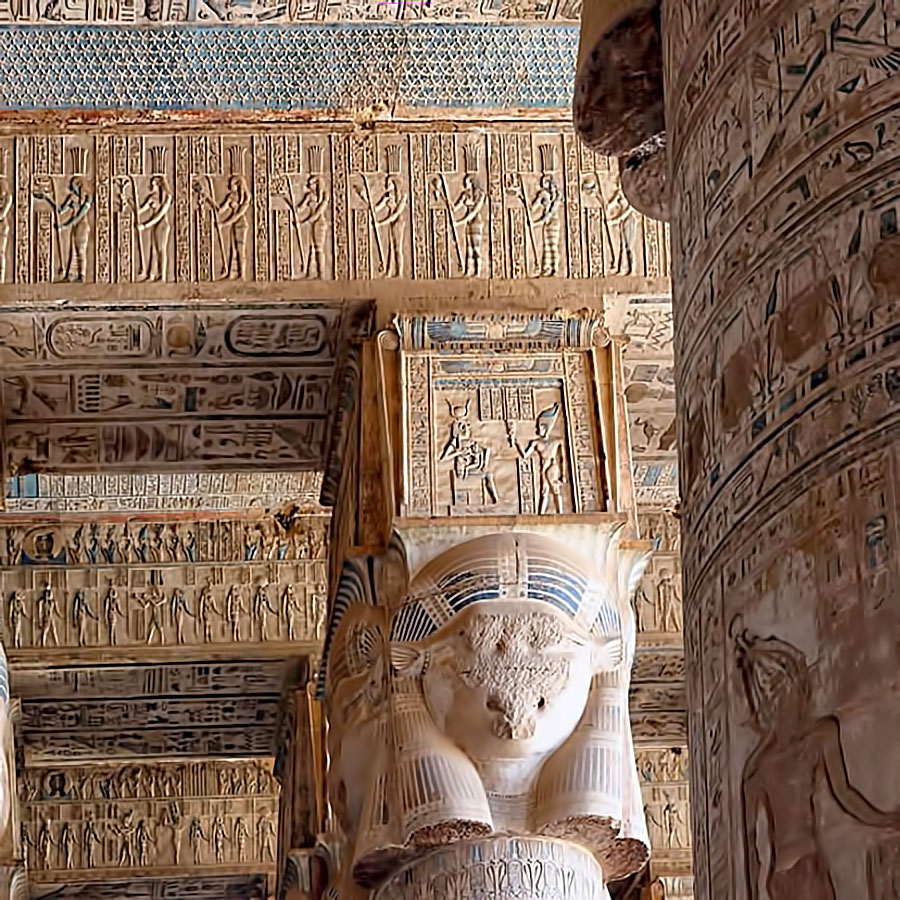 Relief Temple of Hathor