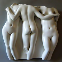 greek wall relief three graces